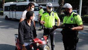 Maskeli ama kasksız motosiklet sürücülerine ceza