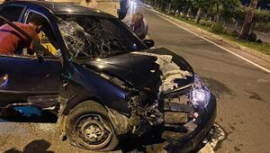 Gazipaşada kaza: 1 yaralı