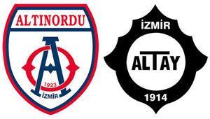 TFF 1. Ligde İzmir derbisi Altınordunun konuğu Altay...