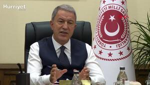Milli Savunma Bakanı Akar, birlik komutanları ile video konferansla görüştü