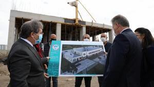 Palancıoğlu, sağlık merkezi inşaatını inceledi