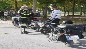 Kayseri polisinden motosiklet denetimi
