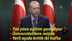 Cumhurbaşkanı Recep Tayyip Erdoğan, Kabine Toplantısı sonrası önemli açıklamalarda bulundu