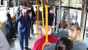 Toplu taşımada COVID-19 denetimi