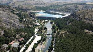 Baraj gölü temizlendi