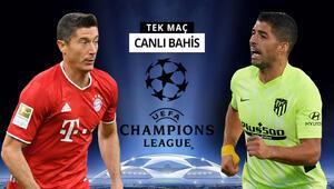 Şampiyonlar Ligi heyecanı devam ediyor Bayerne Atletico Madrid karşısında verilen iddaa oranı...