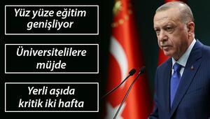 Son dakika haberi...  Cumhurbaşkanı Erdoğandan yüz yüze eğitim, burs ve yerli aşıya dair önemli açıklamalar..