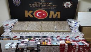 Bursada kaçak sigara imalathanesine baskın