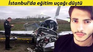 Son dakika haberi: İstanbulda eğitim uçağı düştü Olay yerinden ilk görüntüler..