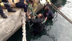 Deniz'e düşen şahsı koronavirüs nedeniyle el uzatıp kurtarmadılar