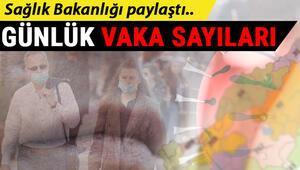 Koronavirüs tablosu günlük vaka sayıları yayınlandı.. İstanbul, Ankara ve tüm bölgelerimizin vaka sayısı.. Corona virüs Türkiye tablosu