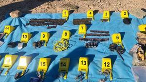 Giresun kırsalında, PKKlı teröristlerin kullandığı depolar imha edildi