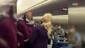 Uçakta maske takmadı, kabin görevlisine saldırdı