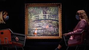 Ünlü sokak sanatçısının Monet tablosu açık artırmada 10 milyon dolara satıldı