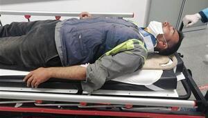 Otoyol işçilerini taşıyan minibüs devrildi Çok sayıda yaralı var