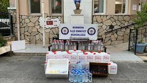 İzmirde sahte içki satan kokoreççiye operasyon