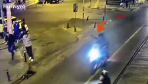 Güngörende tribün liderinin öldürüldüğü silahlı saldırı kamerada