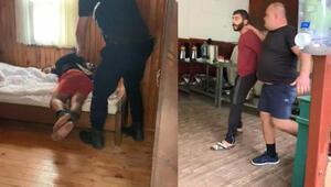 15 kişiyle baskın yapan Rus otel sahibi, el ve ayaklarını bağladığı kiracısını dövdü