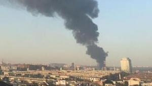 Son dakika... İstanbul Başakşehirde korkutan yangın
