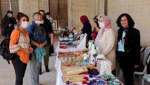 Kadınların, pandemi döneminde evde ürettiği ürünler Selimiye avlusunda sergileniyor