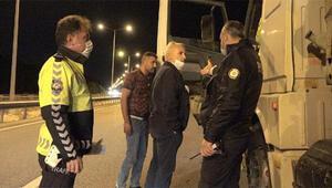 Polis noktasına hızlı giren TIR, tedirginliğe neden oldu