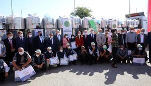 Gaziantepte 300 litrelik 30 süt tankı desteği