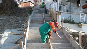 Kırkkonaklar'a merdivenli yol