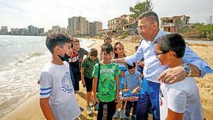 Fuat Oktay KKTC'de  hayalet  kente gitti... Maraş çocukların geleceği olacak