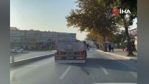 """İstanbul trafiğinde """"pes"""" dedirten görüntü kamerada"""