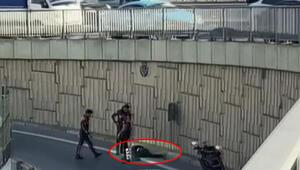 Polisten kaçtı, 5 metreden atladı Üstünden çıkanlar şoke etti...