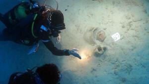 Muğlada deniz dibinde yaklaşık 4 bin yıllık eserlere ulaşıldı