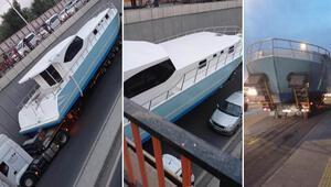 Diyarbakır'da şaşkına çeviren anlar Tekne mahsur kaldı…