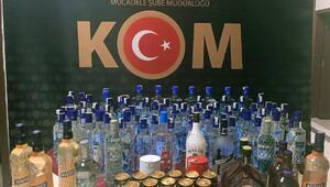 Kilis'te 114 şişe sahte içki ele geçirildi