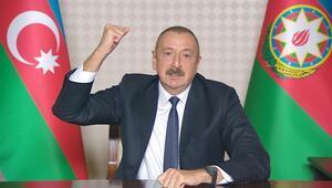 Azerbaycan Cumhurbaşkanı Aliyev: Ateşkesi isteyen niye silah gönderir