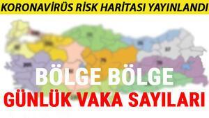 Türkiye koronavirüs tablosu: Türkiye günlük Koronavirüs (coron virus) risk haritası.. İstanbulda dikkat çeken artış