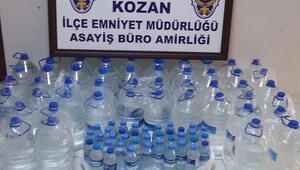 Adanada operasyon Çok sayıda kaçak içki ele geçirildi, 1 gözaltı