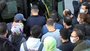 İstanbulda toplu taşımada yoğunluk