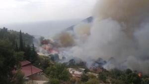 Son Dakika: Son dakika... Mersinde yangın 50 hane tedbir amaçlı boşaltıldı, karayolu kapatıldı