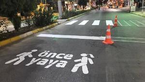 Başkan Bekler: Yol çizgileriyle şehrin görüntüsü de değişiyor