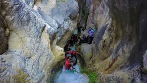 Koyunlu Kanyonu havadan ve su altından görüntülendi