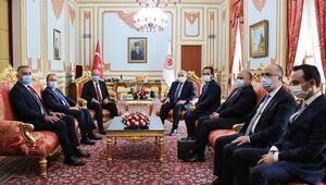 TBMM Başkanı Mustafa Şentop, KKTC Cumhurbaşkanı Tatar ile görüştü