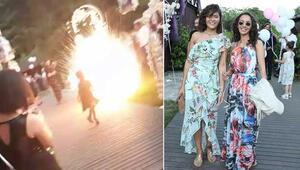 Son dakika haberler: İstanbulda düğünde patlatılan havai fişek genç kadının kabusu oldu