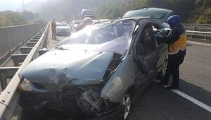 Ordu'da otomobil takla attı: 4 yaralı