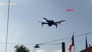 Taksimde maske denetimi; Drone tespit etti polis ceza kesti