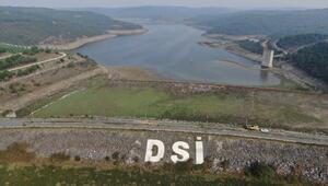 İstanbul barajları kritik seviyede... Alibeyköy Barajında eski elektrik direkleri ortaya çıktı