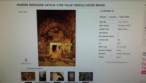 Mardinde 1700 yıllık kilise 7 milyon 250 bin liraya internetten satışa çıkarıldı