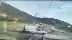 Gaziantepte dayı yeğenin öldüğü feci kaza kamerada