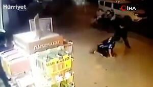 İşitme engelli adama cadde ortasında feci dayak