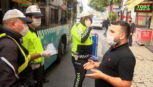Karantinada olması gereken şoför Beyoğlunda yolcu taşırken yakalandı
