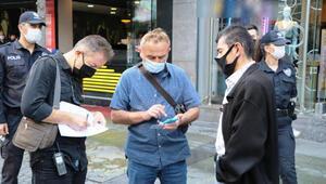 Maske takmayanlar, sivil polislere yakalandı
